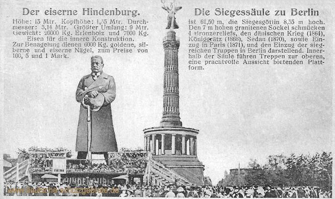 Der eiserne Hindenburg - Die Siegessäule zu Berlin