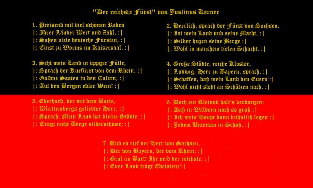 Hymne Württembergs - Der reichste Fürst