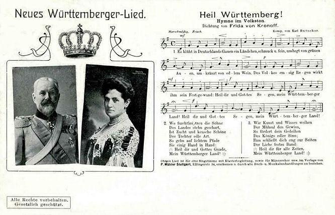 Neues Württemberger Lied: Heil Württemberg!