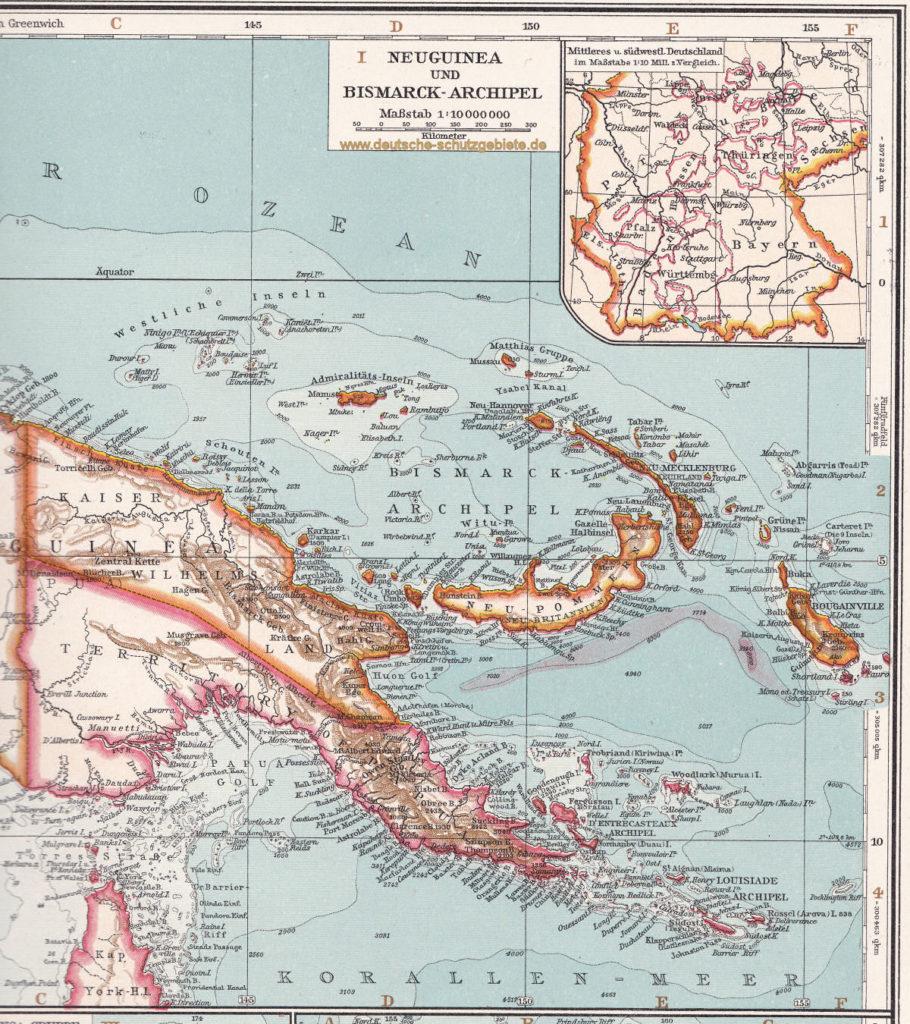 Neuguinea und Bismarck-Archipel, 1914
