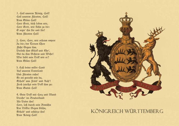 Württembergische Königshymne - Heil unserm König, Heil!
