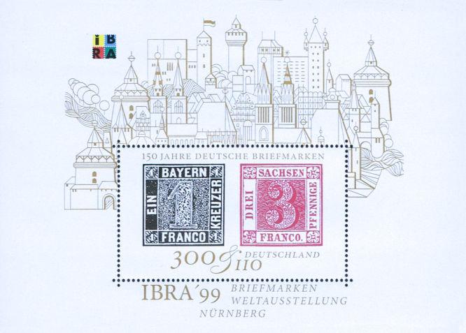 Schwarzer Einser und Sachsen Dreier, 150 Jahre Deutsche Briefmarken
