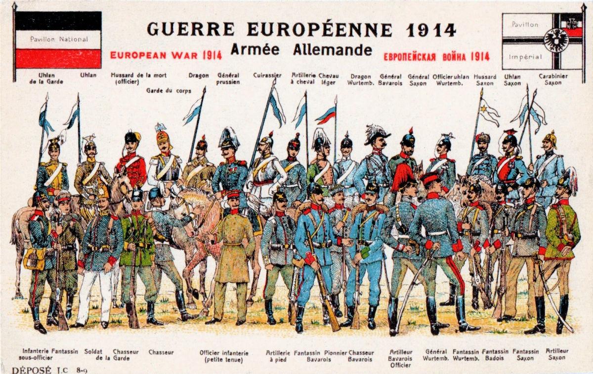 Armee Deutschland 1914 (Waffengattungen)
