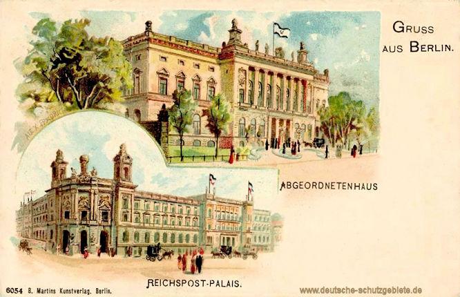 Berlin, Reichspost-Palais, Abgeordnetenhaus