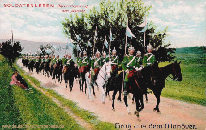 Chevauxlegers auf dem Marsch
