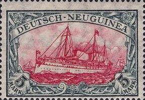 Deutsch-Neuguinea Nr. 23, 5 Mark