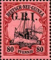 Deutsch-Neu-Guinea 80 Pfennig mit Aufdruck G.R.I.