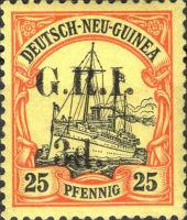 Deutsch-Neu-Guinea 25 Pfennig mit Aufdruck G.R.I.