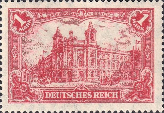 Deutsches Reich 1 Mark, Reichspostamt in Berlin
