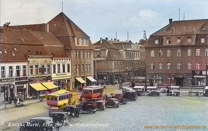 Köslin, Markt Ecke Berg-und Hohetorstraße