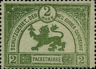 Neu Guina Compagnie, 2 Mark Paketmarke