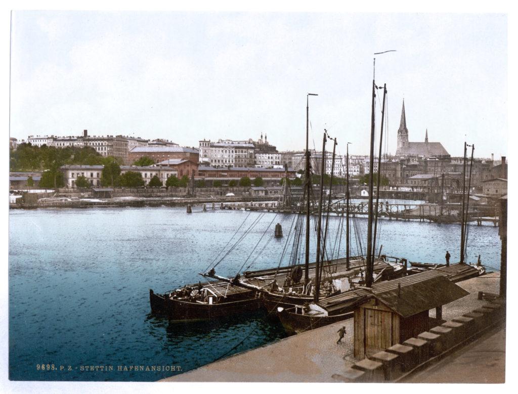 Stettin, Hafenansicht