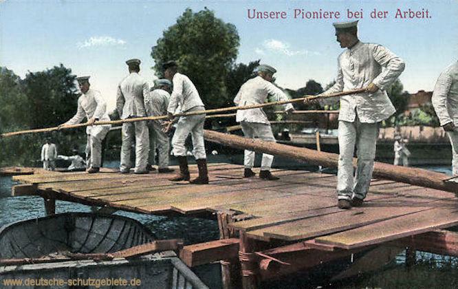 Unsere Pioniere bei der Arbeit