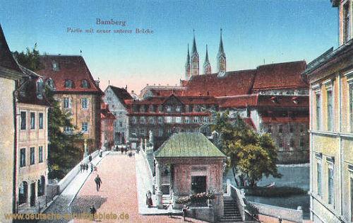 Bamberg, Partie mit neuer unterer Brücke