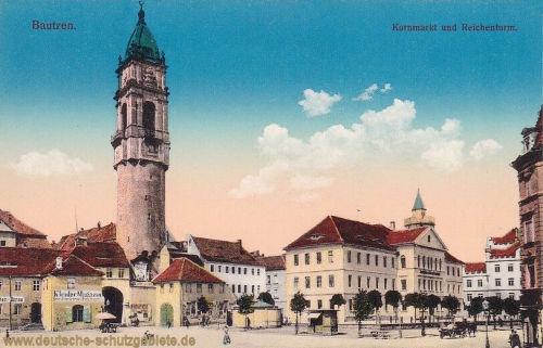 Bautzen, Kornmarkt und Reichenturm