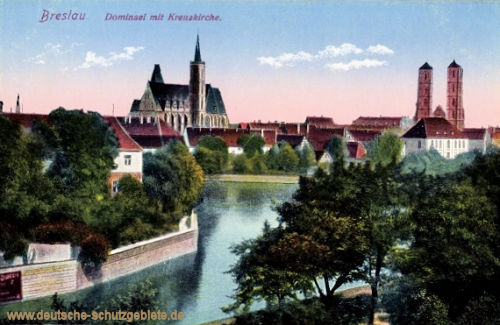 Breslau, Dominsel mit Kreuzkirche
