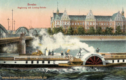 Breslau, Regierung mit Lessing-Brücke