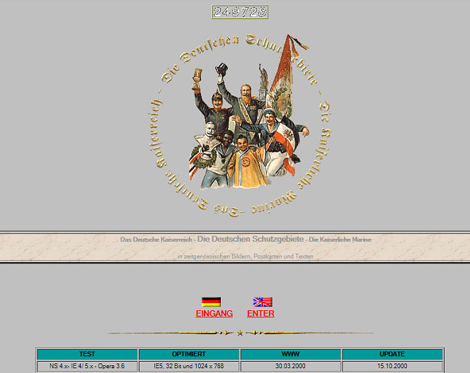 deutsche-schutzgebiete.de im Jahr 2000 (Screenshot archive.org)