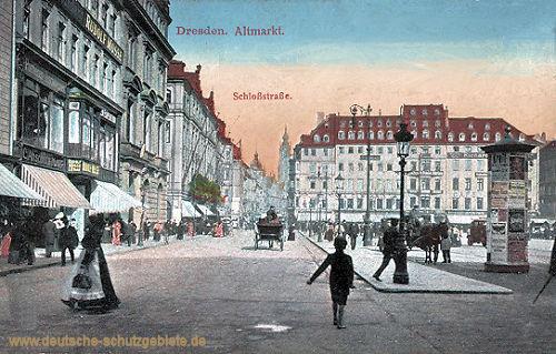 Dresden, Altmarkt, Schloßstraße