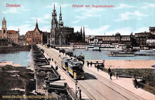 Dresden, Altstadt mit Augustusbrücke
