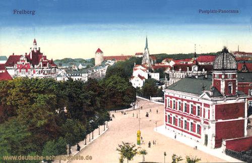 Freiberg i. Sa., Postplatz-Panorama