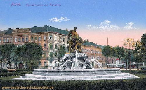 Fürth, Kunstbrunnen am Bahnhof