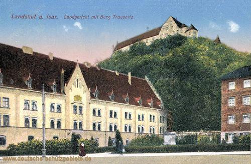 Landshut, Landgericht mit Burg Trausnitz