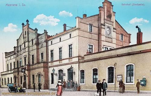 Meerane, Bahnhof (Stadtseite)