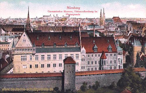 Nürnberg, Gemanisches Museum, Hohenzollernburg im Hintergrund