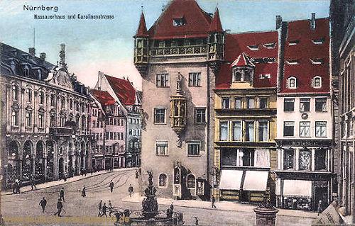 Nürnberg, Nassauerhaus und Carolinienstraße
