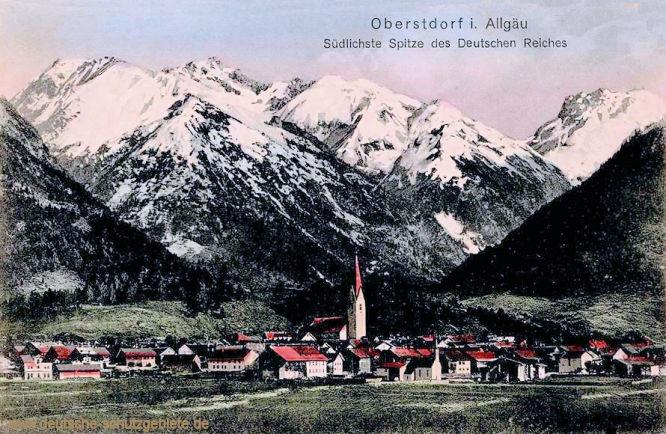 Oberstdorf im Allgäu, Südlichste Spitze des Deutschen Reiches