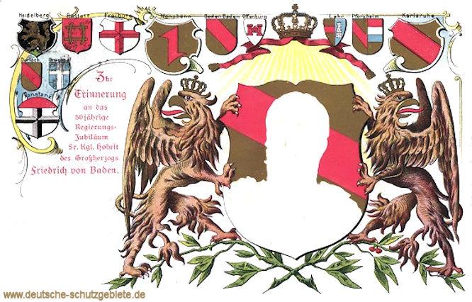 Zur Erinnerung an das 50jährige Regierungs-Jubiläum Seiner Königlichen Hoheit des Großherzogs Friedrich von Baden. 1852 - 1902