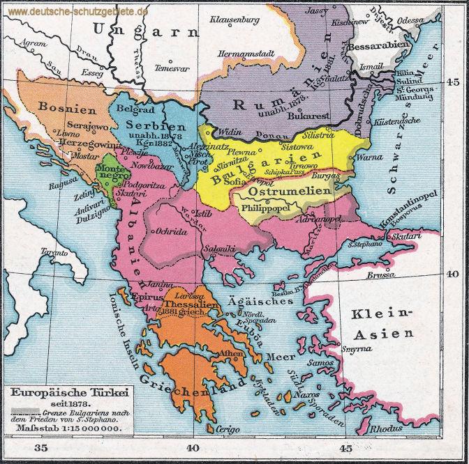 Europäische Türkei seit 1878