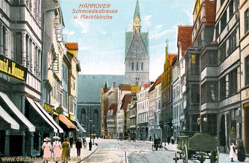 Hannover, Schmiedestraße und Marktkirche
