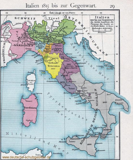 Italien 1815 bis zur Gegenwart