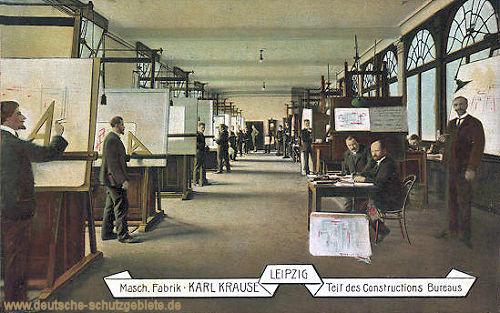 Leipzig, Maschinen Fabrik Karl Krause, Teil des Constructions Bureaus