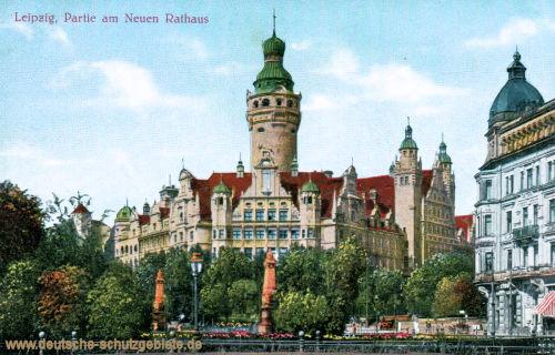Leipzig, Partie am Neuen Rathaus