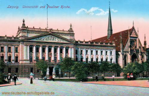 Leipzig, Universität und Pauliner Kirche (Universitätskirche)