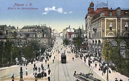 Plauen i. V., Blick in die Bahnhofstraße