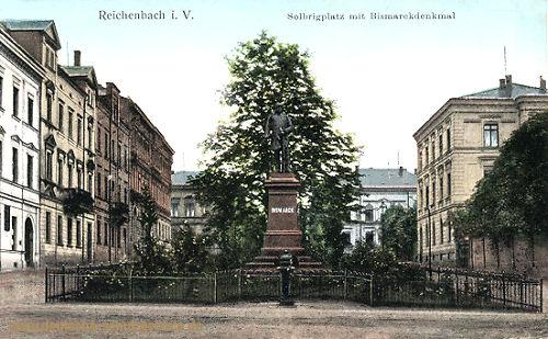 Reichenbach i. V., Solbrigplatz mit Bismarckdenkmal