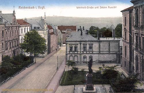 Reichenbach i. V., Weinhold-Straße und Schöne Aussicht