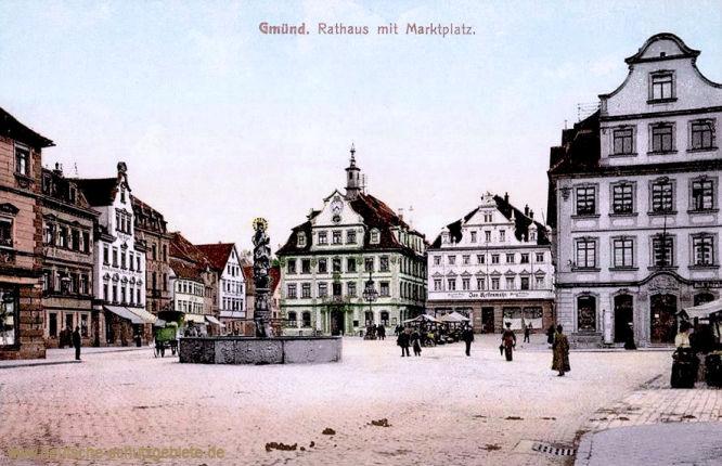 Gmünd, Rathaus mit Marktplatz