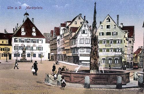 Ulm a. D., Marktplatz