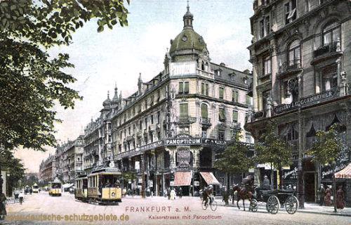 Frankfurt a. M., Kaiserstraße mit Panoptikum