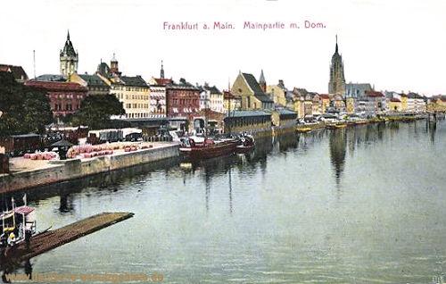 Frankfurt a. M., Mainpartie mit Dom