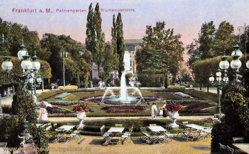 Frankfurt a. M., Palmengarten Blumenparterre