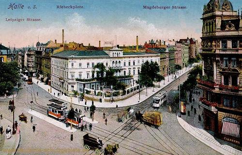 Halle. a. d. S., Leipziger Straße, Riebeckplatz, Magdeburger Straße