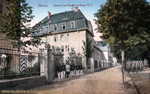 Hanau, Kaserne des Eisenbahn-Regts. Nr. 2