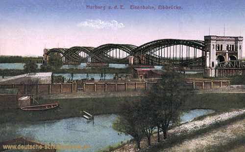Harburg, Eisenbahn, Elbbrücke
