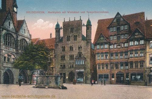 Hildesheim, Marktplatz mit Wedekind und Tempelherrenhaus